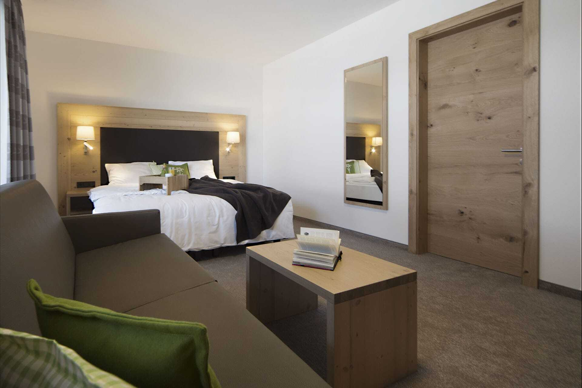 Schlafzimmer Apartment Silvretta